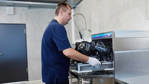 Remove disinfected equipment