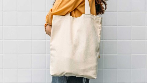 Fabric bags for environmentally friendly shopping